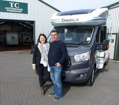 Teodora & Darran are pictured taking delivery of their new Chausson motorhome from Shane Catterick at T C Motorhomes in Herne Bay Kent. Used Motorhomes For Sale, Black Horses, The Next Step, Delivery, Model, Scale Model, Template