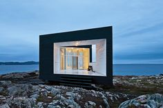a Firm: Search the Remodelista Architect & Designer Directory Studio on Fogo Island, NFLD. Part of a new artist communityStudio on Fogo Island, NFLD. Part of a new artist community Fogo Island Newfoundland, Newfoundland Canada, Fogo Island Inn, Black House Exterior, Island Tour, Building A Shed, Contemporary Architecture, Futuristic Architecture, Residential Architecture