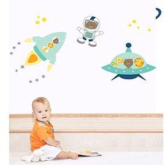 Space Buddies Fabric Wall Stickers