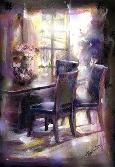 εσωτερικο Chair, Painting, Furniture, Home Decor, Art, Art Background, Decoration Home, Room Decor, Painting Art