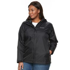 bb3356248c7 Plus Size Columbia Grey Skies Waterproof Jacket (Charcoal)