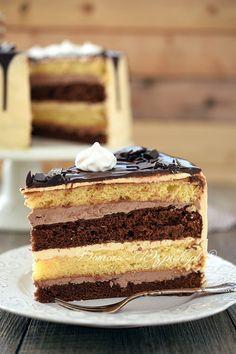 Klasyczny tort z masą maślaną Polish Desserts, Polish Recipes, Sweets Recipes, Cake Recipes, Cooking Recipes, Classic Cake, Different Cakes, Colorful Cakes, Pumpkin Cheesecake