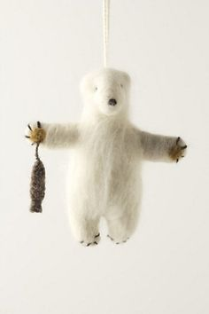 felt bear at Anthropologie