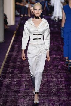 True Power Suite - Love Donatella Versace. She creates clothing for strong powerful women! - Versace Fall 2014 Couture - Review - Vogue