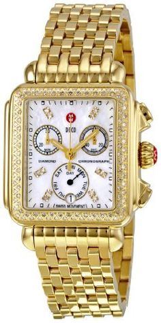 Michele Women's MWW06P000100 Deco Day Chronograph Dial Watch Michele. $1670.76. Quartz movement. Chronograph dial watch. Water-resistant to 50 M (165 feet). Durable mineral crystal protects watch from scratches,. Case diameter: 35 mm