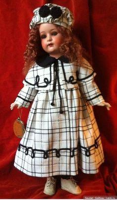 Doll Dress Patterns, Vintage Dress Patterns, Vintage Dresses, Doll Costume, Costumes, Quilts Vintage, Crochet Amigurumi, Needle Felted, Bisque Doll