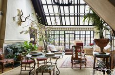 This gorgeous apartment belonging to Ralph Lauren fashion executive Calhoun Sumrall stopped me in my tracks. Published by Elle Decor, the 19th century Greenwich Village penthouse was designed in the Mission Revival style. Now decorated with Sumrall's treasures collected from around the world, the interiors include faux bamboo chairs, Persian rugs, and Italian ceramics. I …