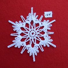 PDF Pattern for 5 Crocheted Snowflakes set 25 от TheNeedleWorks