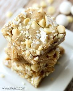 White Chocolate Easter Blondies