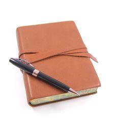 Chianti Journal and Visconti Michelangelo Black Ballpoint Pen with Bronze Trim