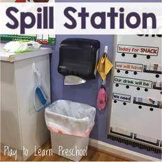 Spill Station Essentials for the Preschool Classroom