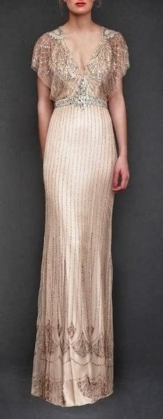Just a pretty dress: Jenny Packham sequins cream dress