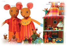 Mice family & Mouse House by Barefoot