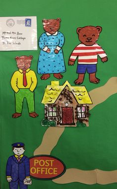 Beginning of our Jolly Postman display.