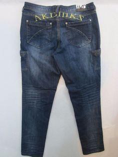 Akdmks Women's Skinny Leg Distressed Dark Jeans 32X32 Size 13  | eBay