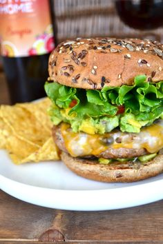 Taco Turkey Burger with Mango Guacamole and Sutter Home Sangria #realfood #yummy // quick & easy!