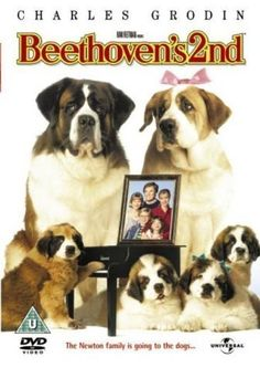 Beethoven - 1993 - Beethoven the St. Bernard dog becomes a father, but his girlfriend Missy is dog-napped, and his puppies are in danger of the same fate. Family Movies, Top Movies, Great Movies, Movies To Watch, Childhood Movies, My Childhood, Nicholle Tom, Bonnie Hunt, St Bernard Dogs