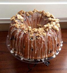 Easter themed Blueberry Bunt Cake