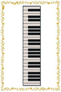 "Beading pattern Bracelet ""Piano"". Even count peyote. Seed bead pattern. Peyote pattern . Instant Download. Pattern PDF."
