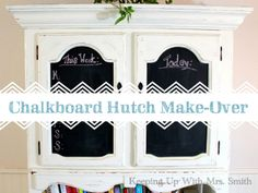 Chalkboard Hutch Make-Over | http://keepingupwithmrssmith.com