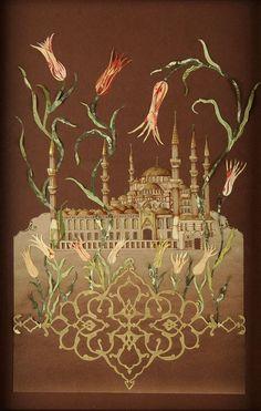 Sultanahmet Camii – Zehra Gökdeniz-Katı' ( İnce Kağıt Oymacılığı )- ( The art of paper cutting )