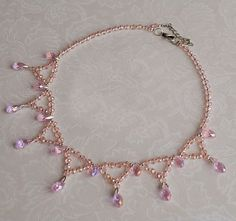 Free pattern for beaded necklace Zefir | Beads Magic#more-6771