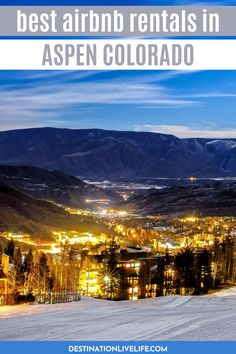 If you're planning a trip to the luxury mountain town of Aspen, Colorado be sure to consider the incredible Airbnb options. There are plenty of gorgeous Aspen Airbnbs with killer mountain vibes! Where to Stay in Aspen | Where to Stay in Aspen Colorado | Aspen Colorado Where to Stay | Where to Stay Aspen | Aspen Colorado Airbnb | Aspen Colorado Travel | Aspen Colorado Travel Guide | Aspen Vacation Rental | Aspen Winter Vacation | Aspen Summer Vacation | Colorado Airbnb | Airbnb Colorado Beautiful Places To Travel, Cool Places To Visit, Colorado Tourism, North America Destinations, Road Trip To Colorado, Aspen Colorado, United States Travel, Canada Travel, Vacation Ideas