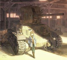 戦車が描きたくてな⚙The old timer #illustration #drawing #art #tank #イラスト #絵 #戦車