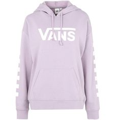 Vans Sweatshirt (88 CAD) ❤ liked on Polyvore featuring tops, hoodies, sweatshirts, sweaters, shirts, outerwear, lilac, sweatshirt hoodies, shirt hoodies and long-sleeve shirt
