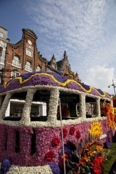 Annual Flower Parade....Haarlem,the Netherlands....draws one million visitors!