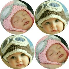 Béguin aviateur vintage fait main au crochet - Aviator Hat Disponible sur commande   en tailles bébés et enfants (maternelle)   en marron, gris, rose ou coloris de votre choix à préciser lors de votre commande.  Merci également de préciser la couleur des verres désirée et le périmètre cranien de lenfant SVP.  Pour la confection de mes bonnets , jutilise un fil doux et chaud (qui ne gratte pas).  Les deux liens à nouer permettent dajuster le bonnet parfaitement au visage de lenfant.  A offrir…