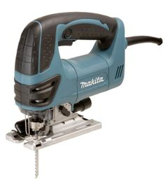 Makita 4350FCT Top Handle Jig Saw with L.E.D.Light - Includes Top Handle Jig Saw w/ L.E.D. Light - 4350FCT-R, Anti-Splintering Device - 192557-6, Cover Plate - 417852-6, Plastic Case - 182807-7Makita's Top Handle Jig Saw, Model 4350FCT, combines powe