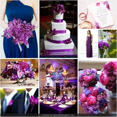 Purple and navy with pink accents