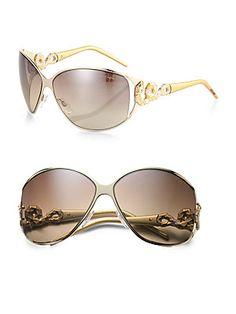 Roberto Cavalli Bellatrix Swarovski Crystal Serpent Sunglasses