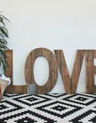 Giant Handmade Reclaimed Wooden 'Love' Sign £350.00 #valentinesday http://www.cruxbaby.co.uk/valentines-day-picks/
