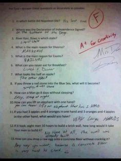 This left me laughing in funny tears!! You have to read the answers to get it!!!!!