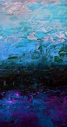 The Midnight Tide. Mixed Media on Canvas 100cm x 50cm  This painting was created to try and describe what the scene might be like if you could look out onto the softly moving surface of the ocean at night, When there is just enough moonlight to cast glimmers of sparkling colour on the waters flowing surface.  For full details, check out my site - http://www.davidmunroeart.com/the-midnight-tide.html