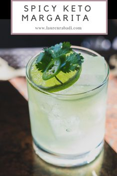 Spicy Jalapeno Keto Margarita - Let's Do Keto Together! Keto Cocktails, Cocktail Drinks, Cocktail Recipes, Dinner Recipes, Summer Drinks, Fun Drinks, Mixed Drinks, Alcoholic Beverages, Pool Drinks
