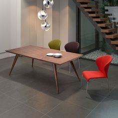 Strasbourg Dining Table | Mid-Century Dining | Walnut Modern Dining Table | Eurway