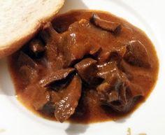 Rubin Konyhája: Meggylikőrös zúzapörkölt Tacos, Beef, Ethnic Recipes, Food, Meat, Essen, Meals, Yemek, Eten