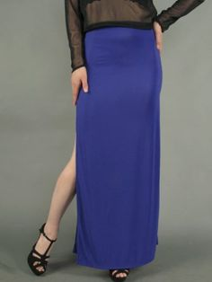 G2 Chic Double Slit Maxi Knit Skirt G2 Chic. $23.93