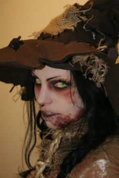 Wicked Scarecrow Makeup / would use as base template for some other looks