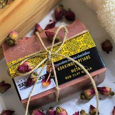 Σαπούνι προσώπου Κόκκινος Άργιλος & Μετάξι Olive Oil Soap, Soaps, Gift Wrapping, Clay, Gifts, Hand Soaps, Gift Wrapping Paper, Clays, Presents