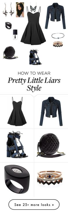 """Skater Denim"" by ejmfashionista on Polyvore featuring Glamorous, Tom Ford, LE3NO, Chanel, Andrew Hamilton Crawford, Aamaya by priyanka, Joëlle Jewellery, Eternally Haute, NARS Cosmetics and women's clothing"