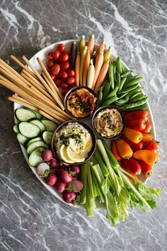 How to Put Together a Mediterranean Crudités Platter - from Cooking with Cocktail Rings
