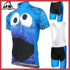 Hot Sale Mens Cycling Jersey Summer Mtb Short Anti-sweat Bicycle Clothing Quick Dry Breathabl Jerseys Cookie Monster Size XS-4XL