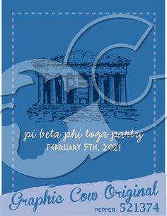 Toga party Parthenon Greek mixer #grafcow
