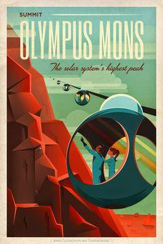 Retro NASA posters.