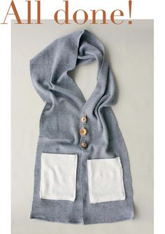 Super cute!!  Diy button up scarf  @Sarah Ellenberg