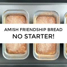 Craving Amish Friendship Bread but you don't have a starter ready? We've got you covered! Check out our most popular Amish Friendship Bread hack -- no starter/starter-free/without starter Amish Friend Friendship Bread Recipe, Friendship Bread Starter, Amish Friendship Bread, Amish Bread Starter, Friendship Cake, Amish Bread Recipes, Breakfast Bread Recipes, Bread Machine Recipes, Sourdough Recipes